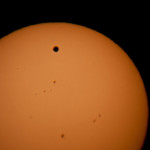 Wenus na tle Słońca 06.06.2012r godz. 5:39